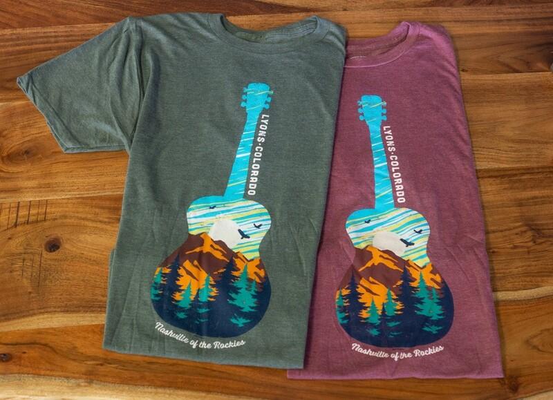 Mountain Guitar Short Sleeve Tshirt