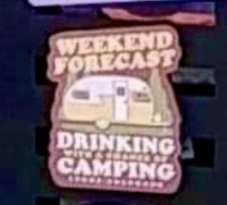 Sticker - Drinking and Camping