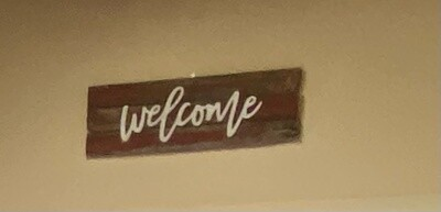 Welcome Sign Red Barnwood