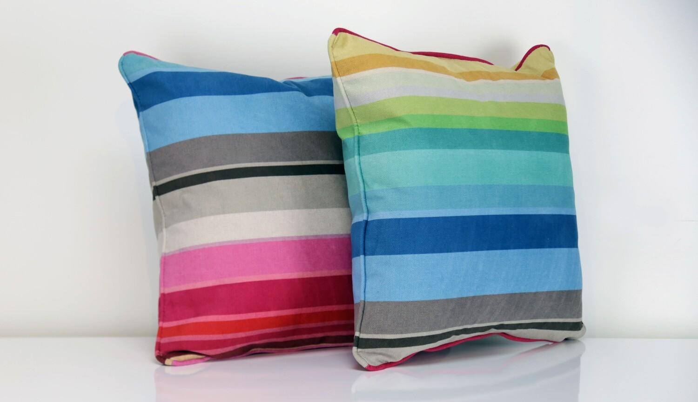Vibrant Pillow  Rainbow Collection