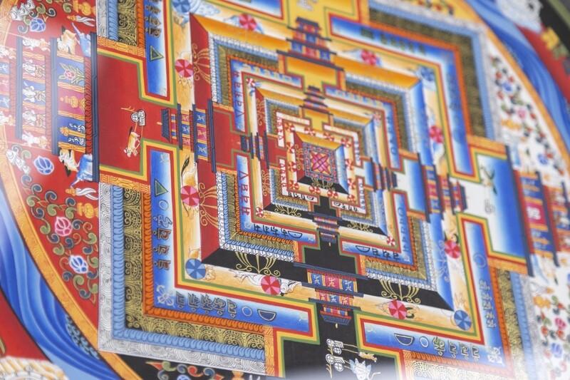 Painting Kalachakra Mandala