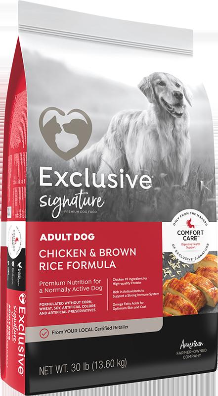 Exclusive® Adult Dog Chicken & Brown Rice Formula
