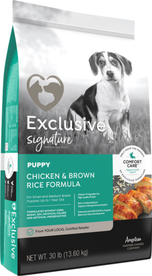 Exclusive® Puppy Food Chicken & Brown Rice Formula