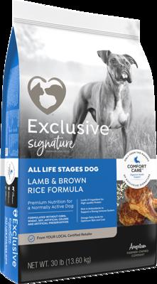 Exclusive® Lamb & Brown Rice Formula