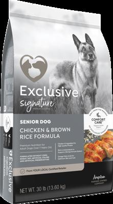 Exclusive® Senior Dog Chicken & Brown Rice Formula