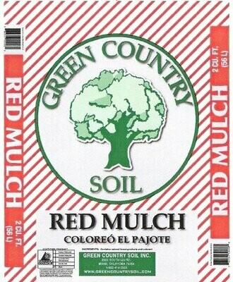 Red Colored Mulch | 2 CU FT Bag