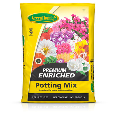 Premium Potting Soil | 1 CU FT Bag
