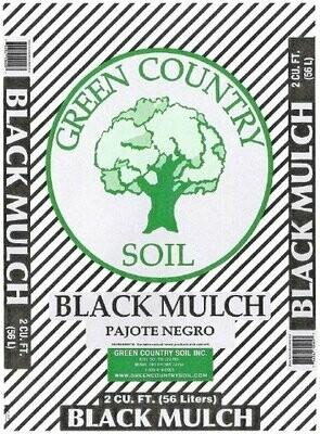 Black Colored Mulch | 2 CU FT Bag