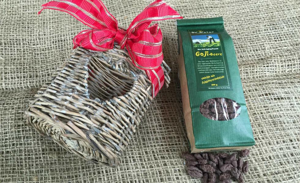 Gojibeeren mit Zartbitterschokolade