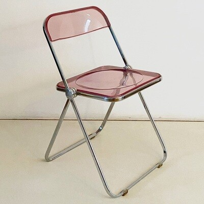 Gian Carlo Piretti Plia Chair for Anonymous Castelli (Pink)