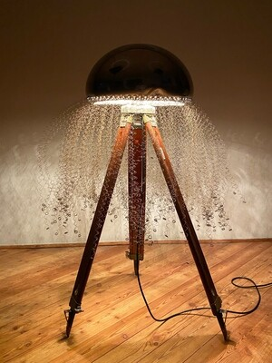 Scultura luminosa Medusa Design Davide Ratti