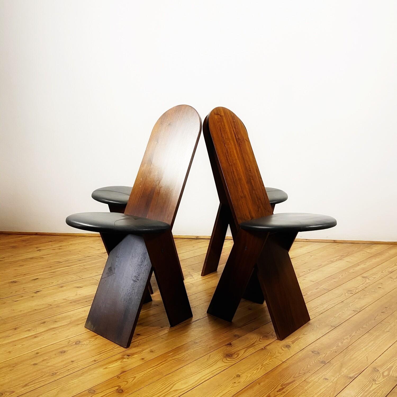 Set di 4 sedie design Marco Zanuso per Poggi 1970