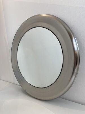 Specchio tondo in alluminio anni '60
