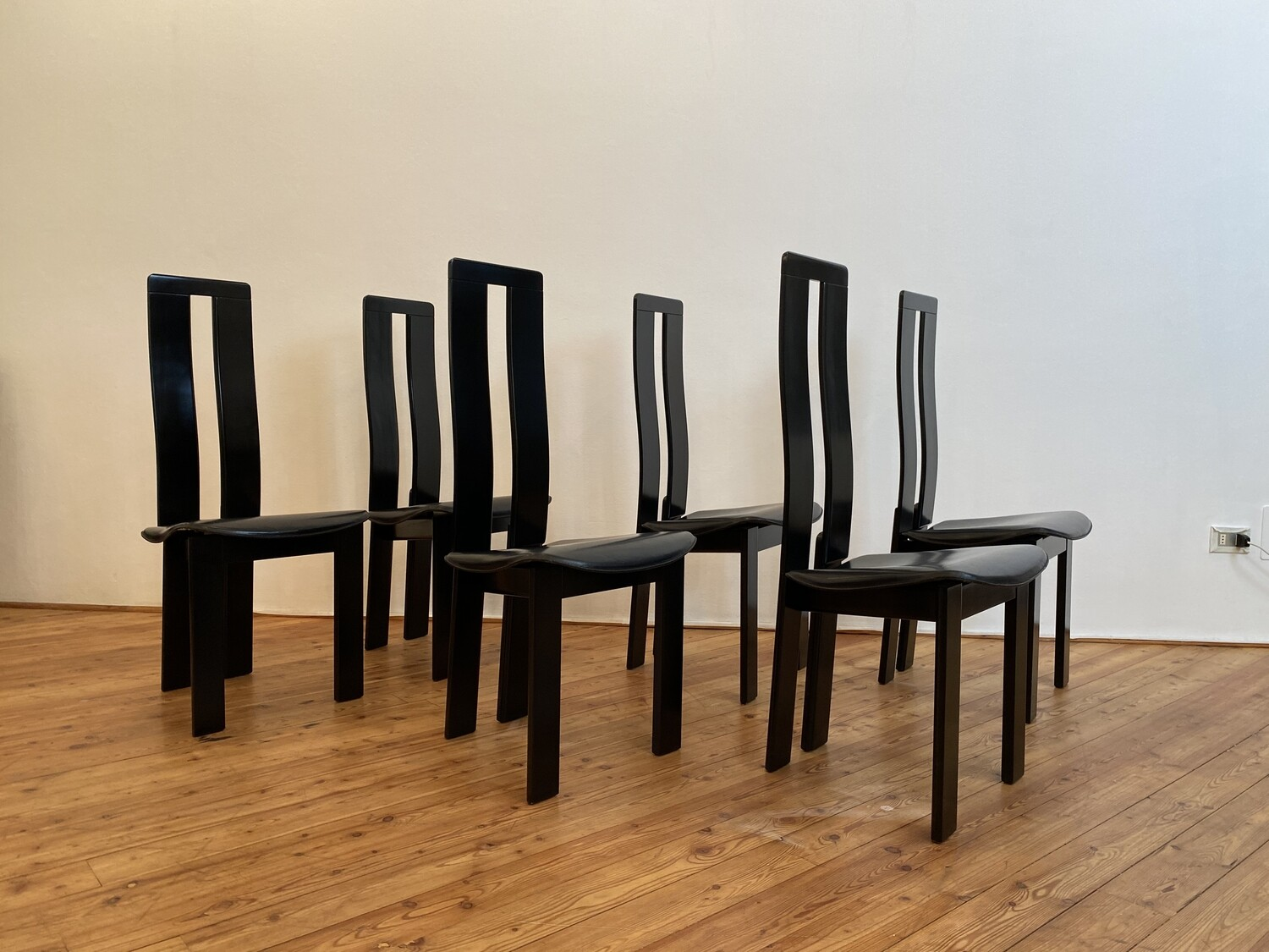 Set of 6 Piero Costantini chairs for Ello, 1970