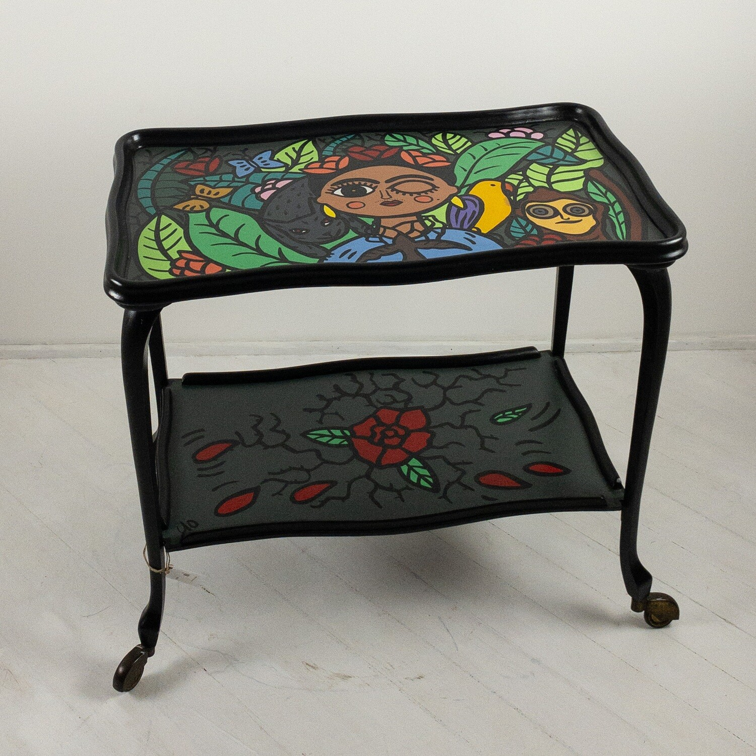 Carrello vintage in stile Pop Art Frida