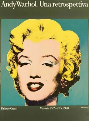 Andy Warhol print in Venice 1990