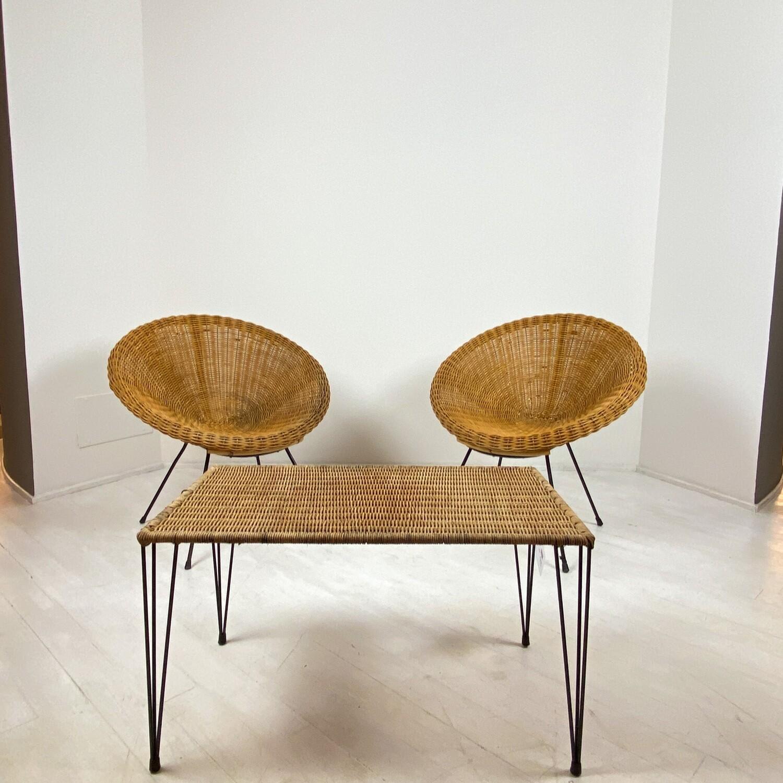 Set Lounge in Rattan