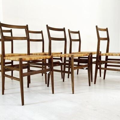 Cassina 646 Leggera Chair, Gio Ponti, 1952 Set of 6