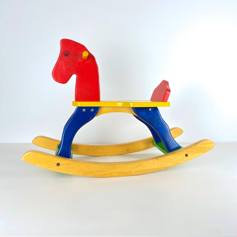 Child's wooden rocking chair