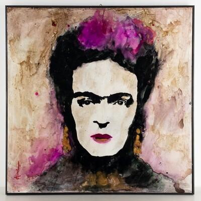 Frida acrilico su tavola