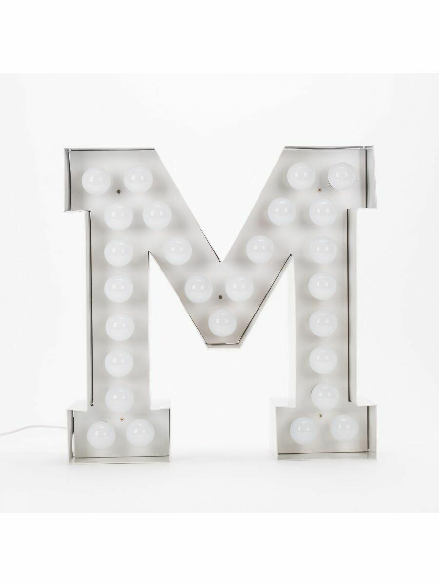 Seletti Vegaz Lettera M Luminosa