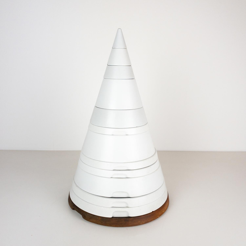 Table Set for two, Pierre Cardin Cone Series, Design Ambrogio Pozzi