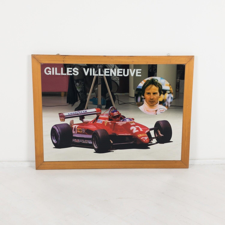 Quadro specchiato Ferrari, Gilles Villeneuve 1982