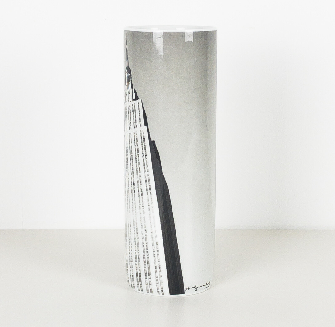 Andy Warhol per Rosenthal Empire State Building di New York Vaso cilindro