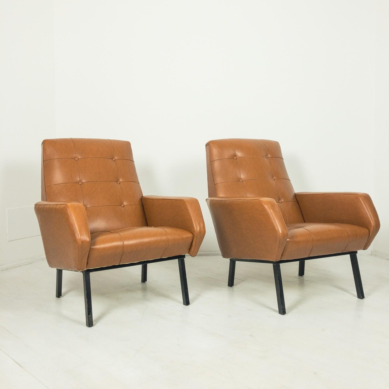 Pair of Vintage Armchairs in Sky
