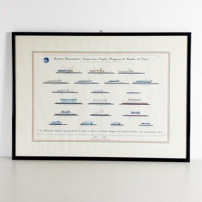 Framed print Navigazione Laghi