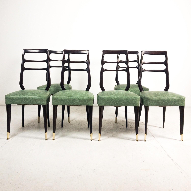 Set di 6 Sedie in stile Paolo Buffa, Cantù Anni '50