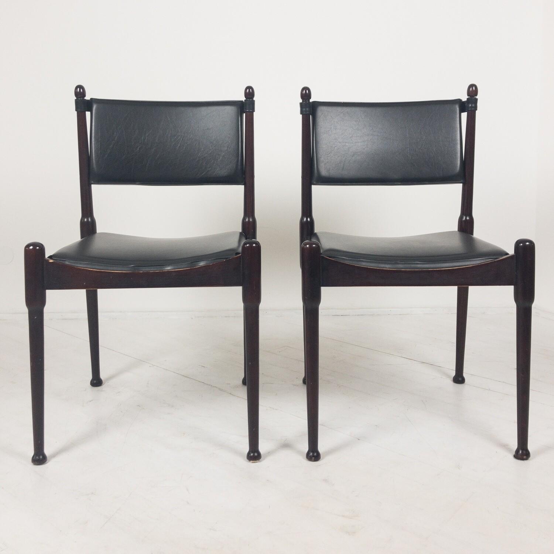 Coppia di sedie in stile Silvio Coppola, anni '60