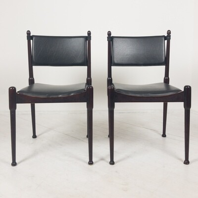 Pair of chairs in the style of Silvio Coppola, 1960s