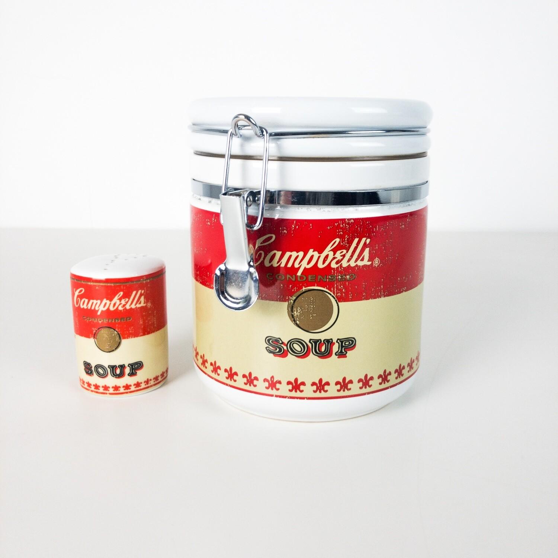 Barattolo in ceramica e porta pepe Campbell's Soup