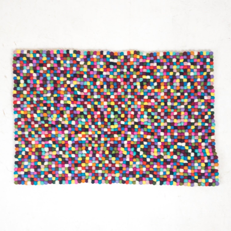 Tappeto Feltro Multicolor