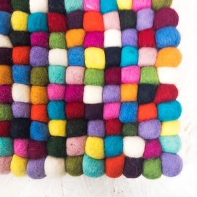 Multicolor Felt Rug