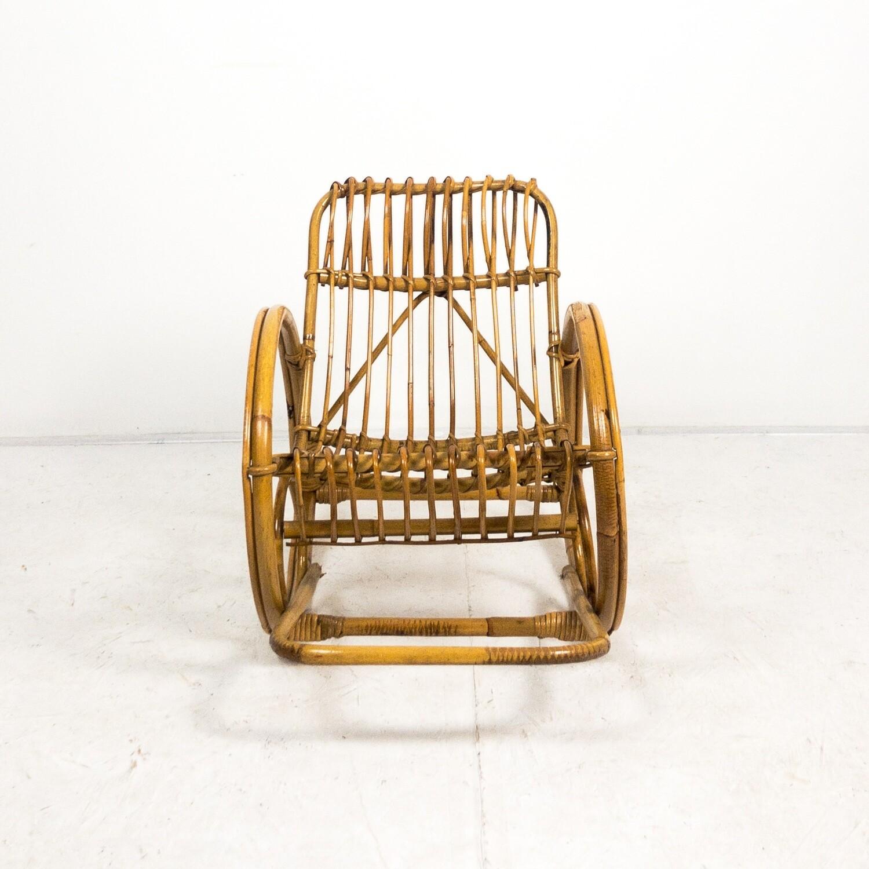 Rocking chair for children in Bonacina style