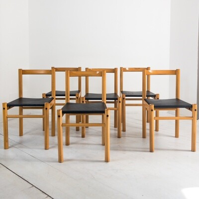 Set of 6 Ibisco chairs, Italy 1960s