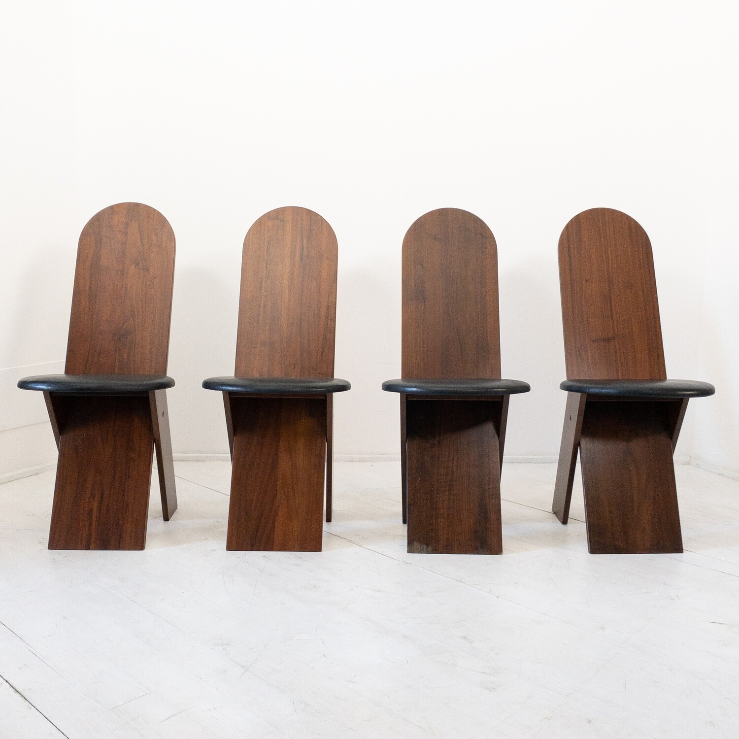 Set of 4 chairs designed by Marco Zanuso for Poggi 1970