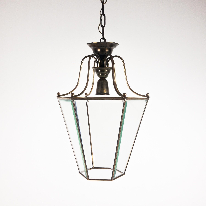 Lanterna a sospensione in ottone