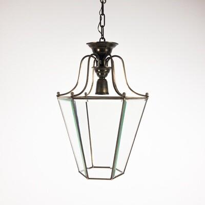 Suspended brass lantern