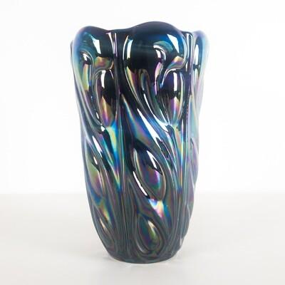 Iridescent jacketed vase