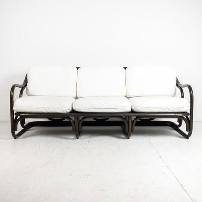 Sofa in ebonized bamboo, by Francesco Trabucco for Bonacina 1972