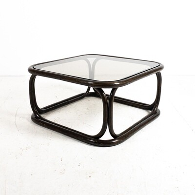 Ebonized bamboo coffee table by Francesco Trabucco for Bonacina, 1972
