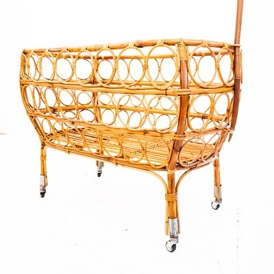 Bamboo cradle, Italy, 1950s
