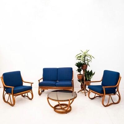 Bamboo lounge, 1970s