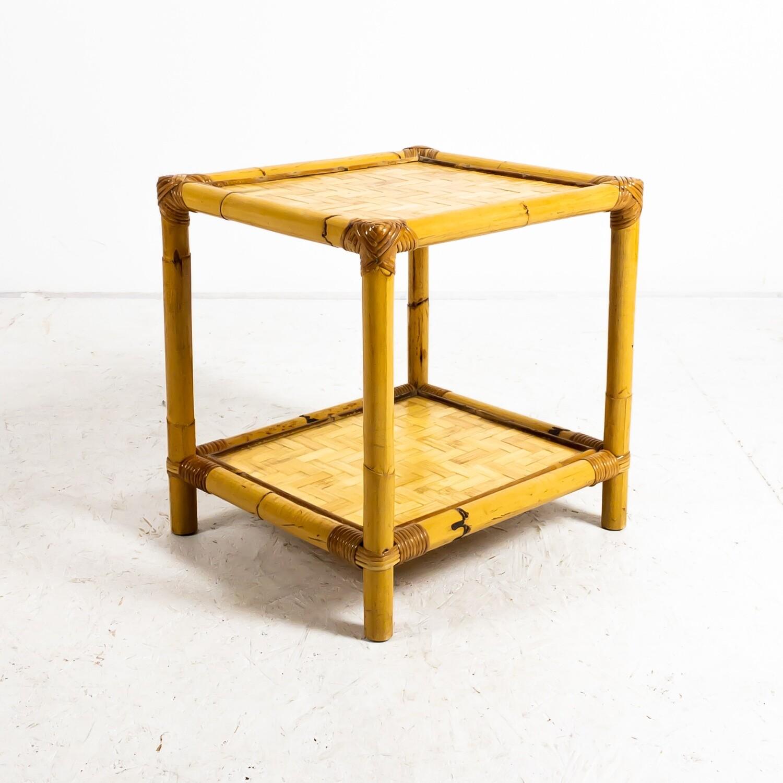 Bamboo coffee table, Bonacina, Italy 1972