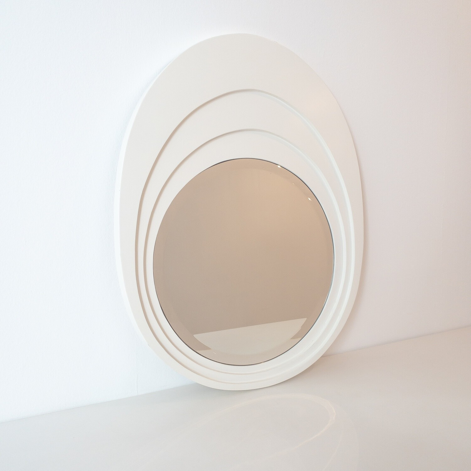 Space Age Oval Mirror