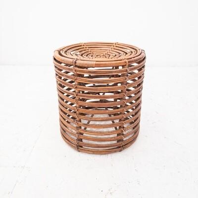 Bonacina style rush pouf