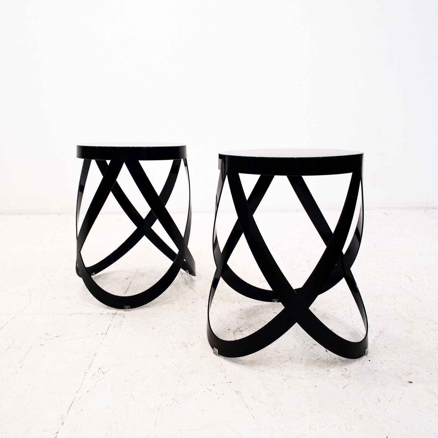 Pair of Nendo Ribbon Low stools for Cappellini